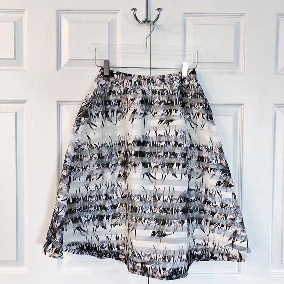 J.O.A. Dresses & Skirts - J.O.A. Los Angeles Floral Striped A-line Skirt